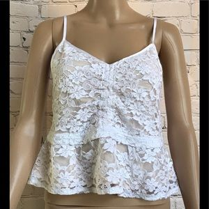 NWT Abercrombie and Fitch lace, sleeveless blouse.